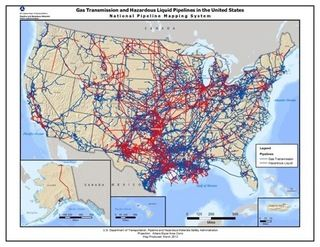 Pipelines of the US, oil and gas by DOT #map #usa #oil #gas ...