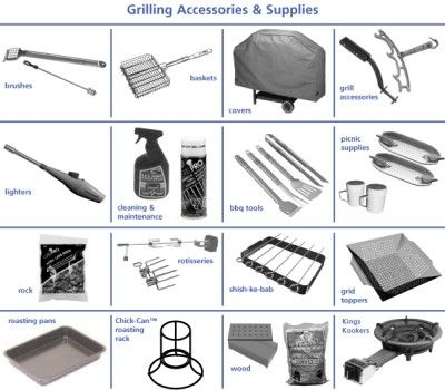 BBQ accessories and grilling supplies | Grill accessories, Bbq ...