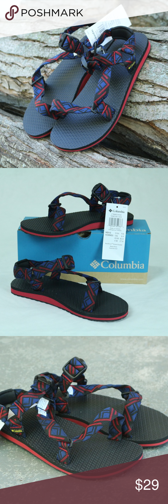 9b284267aede Columbia Mens Red River Printed Sandal YM5341-010 Boutique in 2018 ...