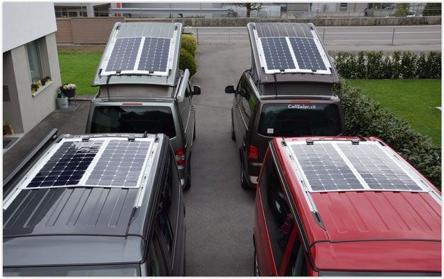 Solar Panel Module Anlage Vw California T5 T6 Www Calisolar Ch Solaranlagen It Is Possible To Get Away From It All Solar Solar Panels Bus Camper