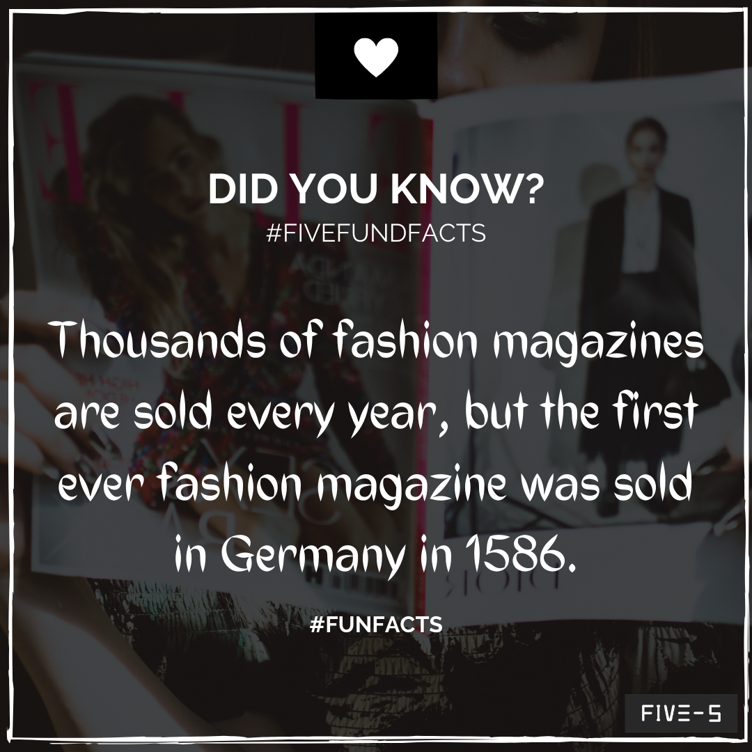 DID YOU KNOW FACTS BY FIVE  #tips #didyouknow #fashionshow #fashionmagazine