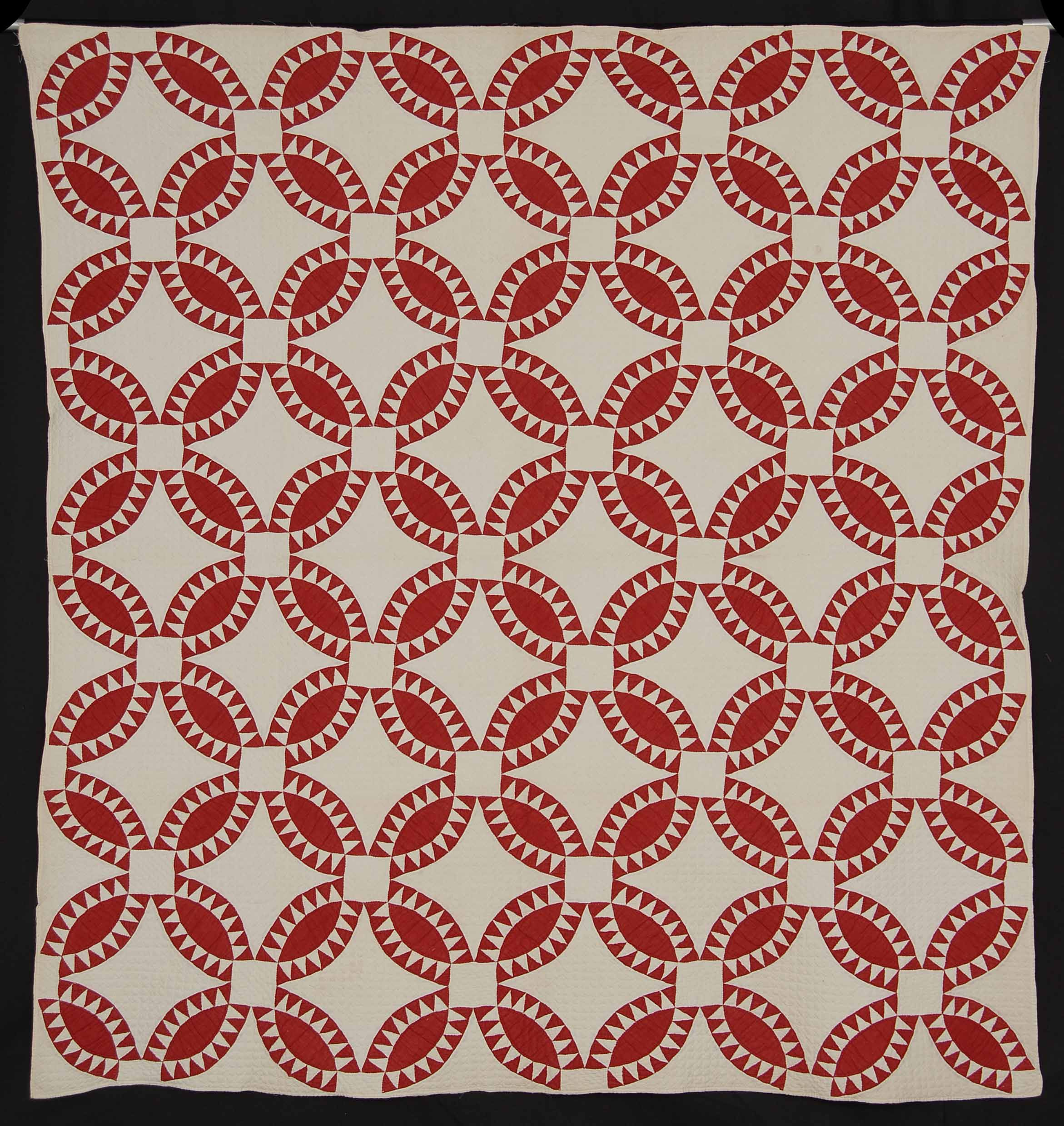 Red and White Pickle Dish Quilt at the Rocky Mountain Quilt Museum ...