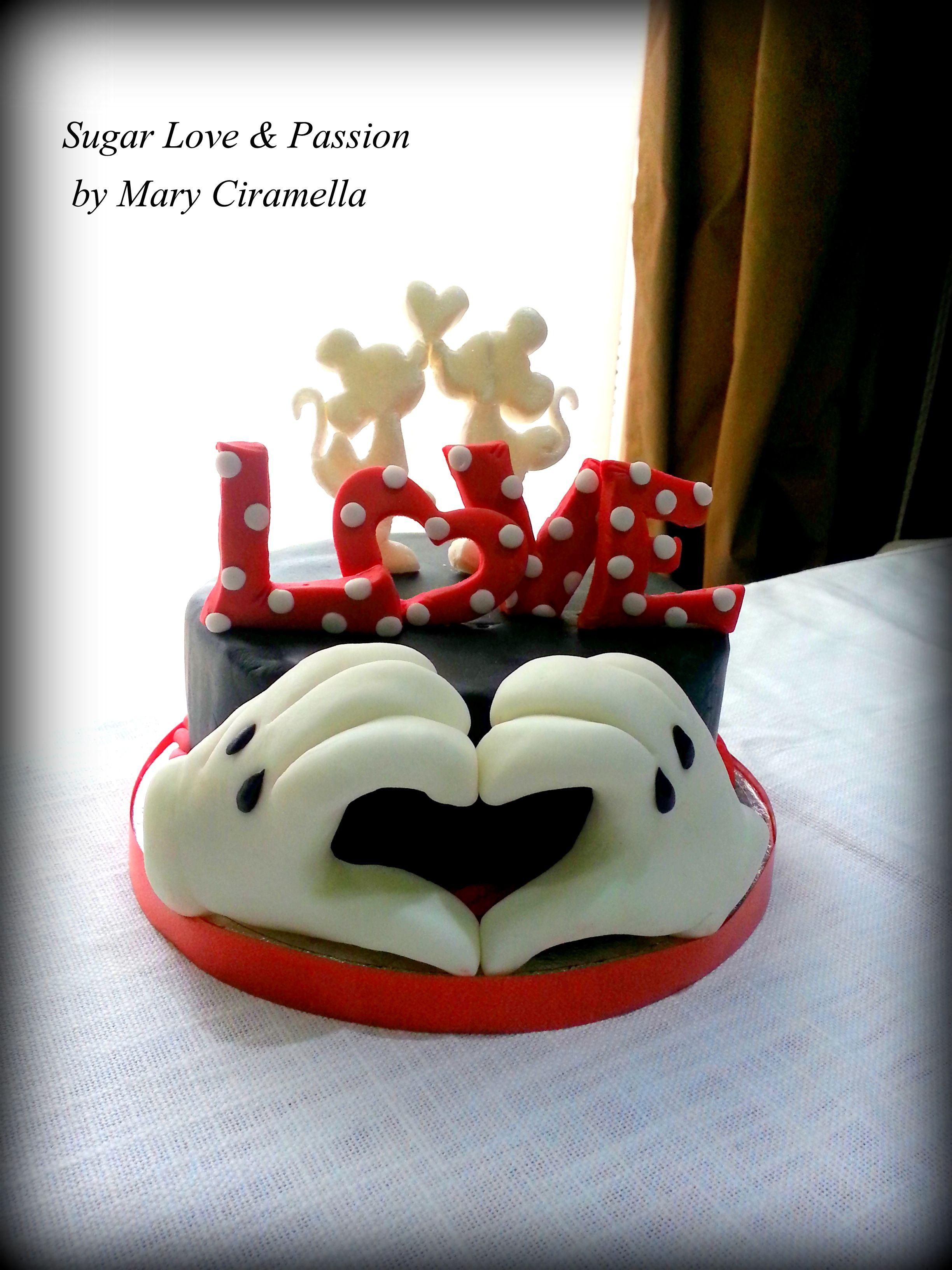 Minnie E Mickey Love Cake San Valentine Disney  Valentines