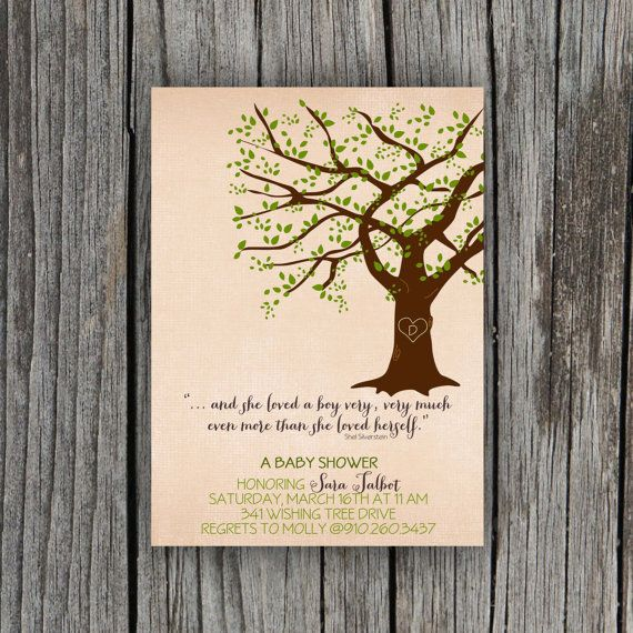 Giving Tree Baby Shower Invitation by PetitPapel on Etsy ...