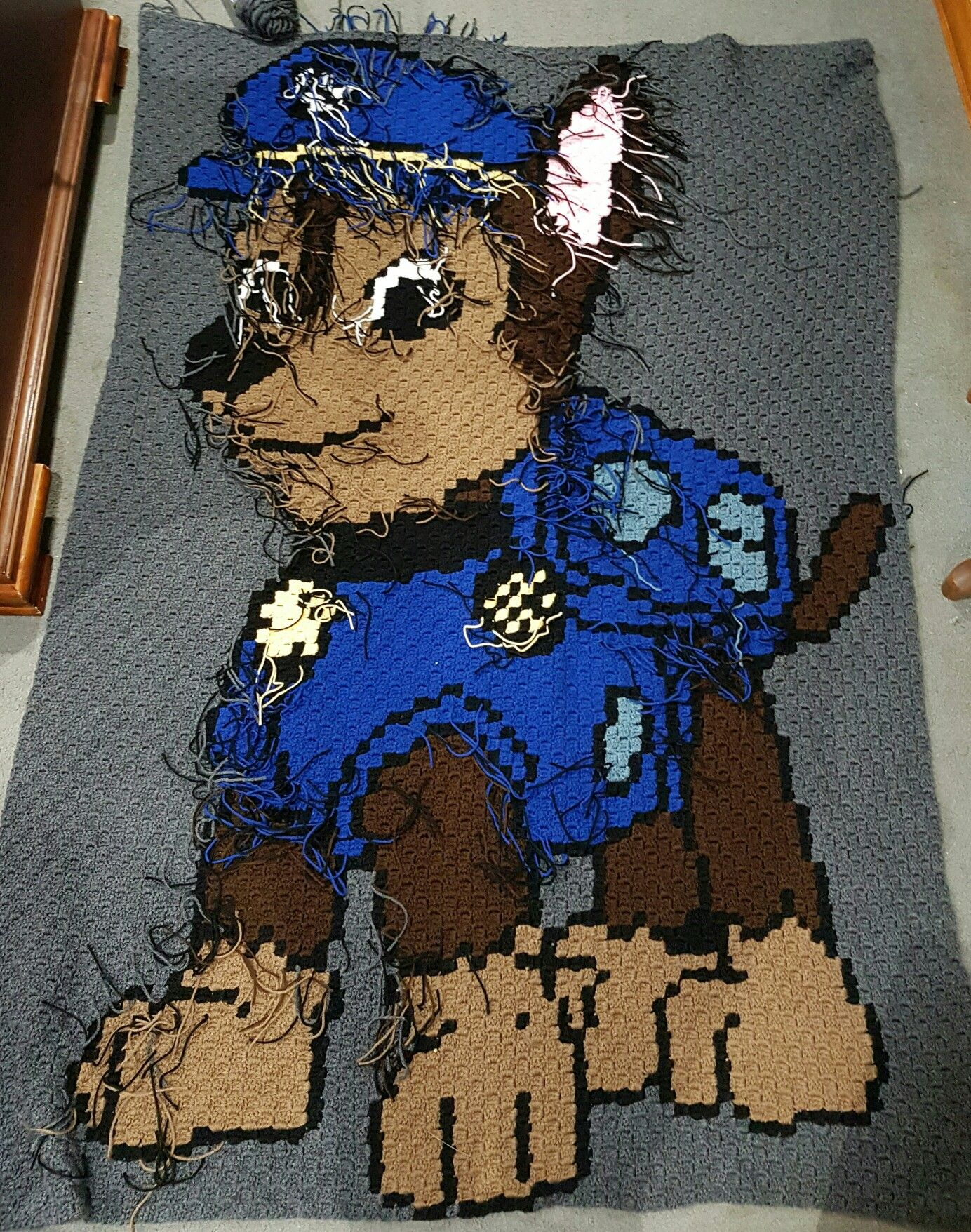 Chase Paw Patrol c2c blanket. Ends not weaved in yet... | Knitting ...