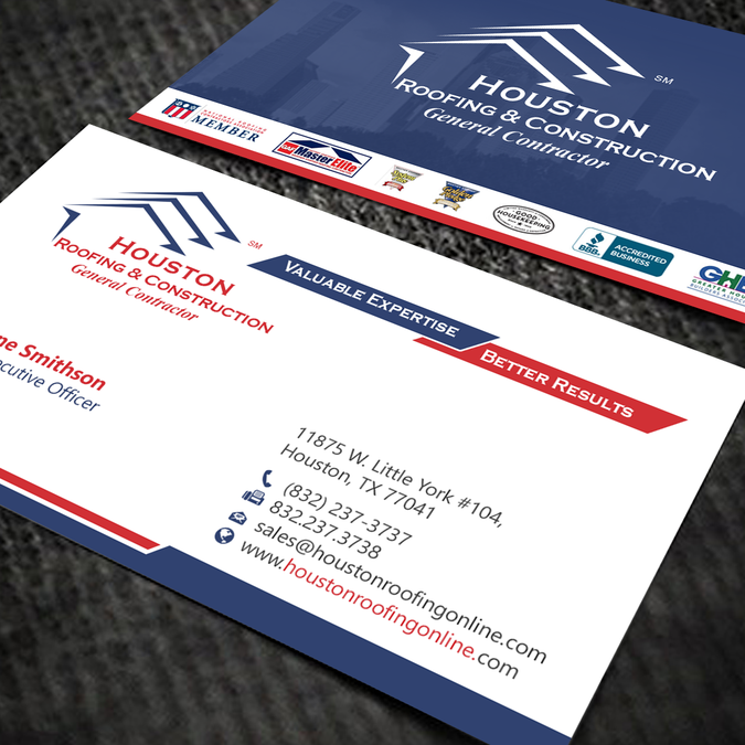 New Business Card Layout For Existing Construction Company By Oeingartmindz Company Business Cards Business Cards Layout Business Cards