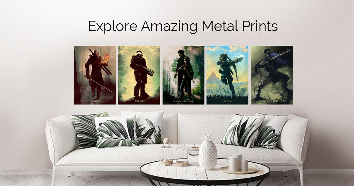 Gaming Characters Metal Wall Art Prints Vibrant Wall Art Metal Wall Art Wall Art