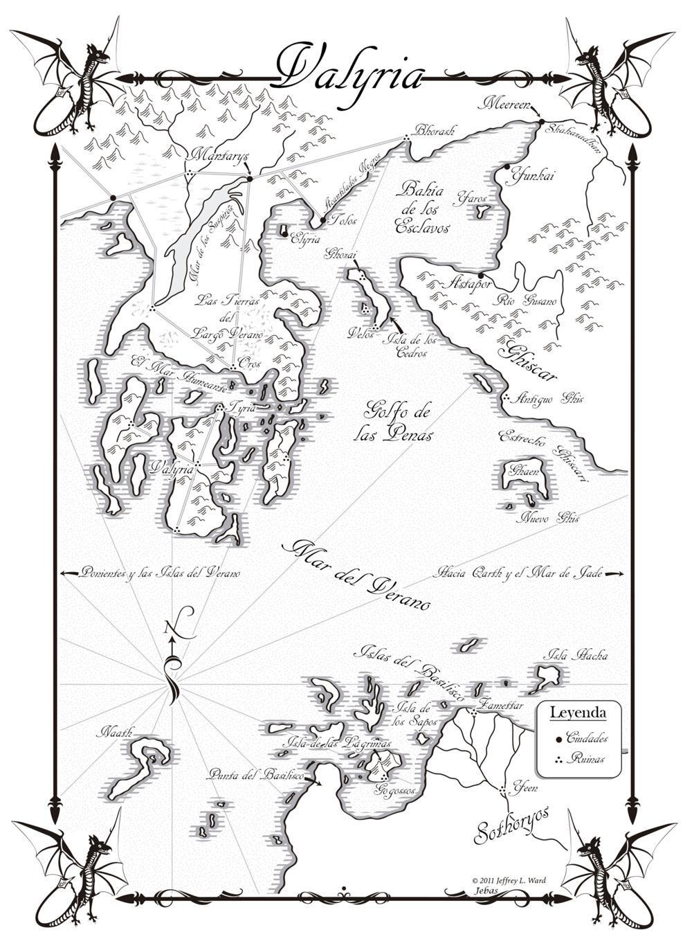 Danza de Dragones-Mapa Valyria   Danza de dragones, Mapas y Hielo
