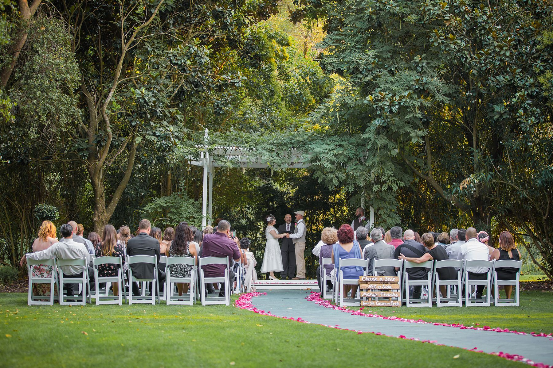 backyard wedding venues in orange county ca%0A Wedgewood Weddings   Redwood Canyon   Rustic Outdoor Scenic Castro Valley Wedding  Venue   Northern California