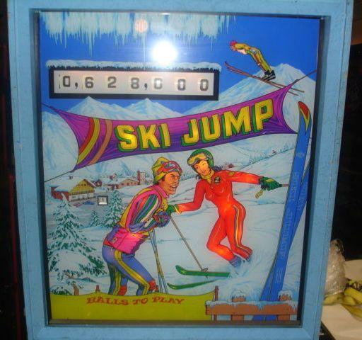 Ski Jump Backglass Zaccaria 1978 Ski Jumping Skiing