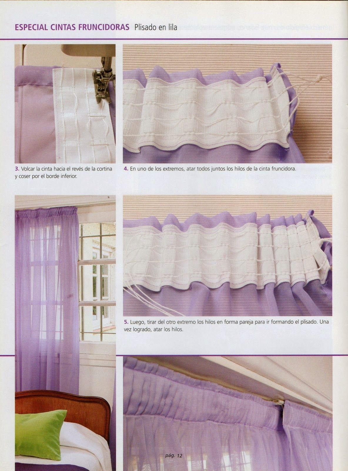 Revistas de manualidades gratis como hacer cortinas paso for Como hacer cortinas modernas