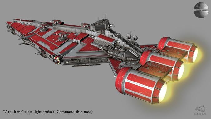 Arquitens Class Light Cruiser From Star Wars 3d Model Max 9 Star Wars