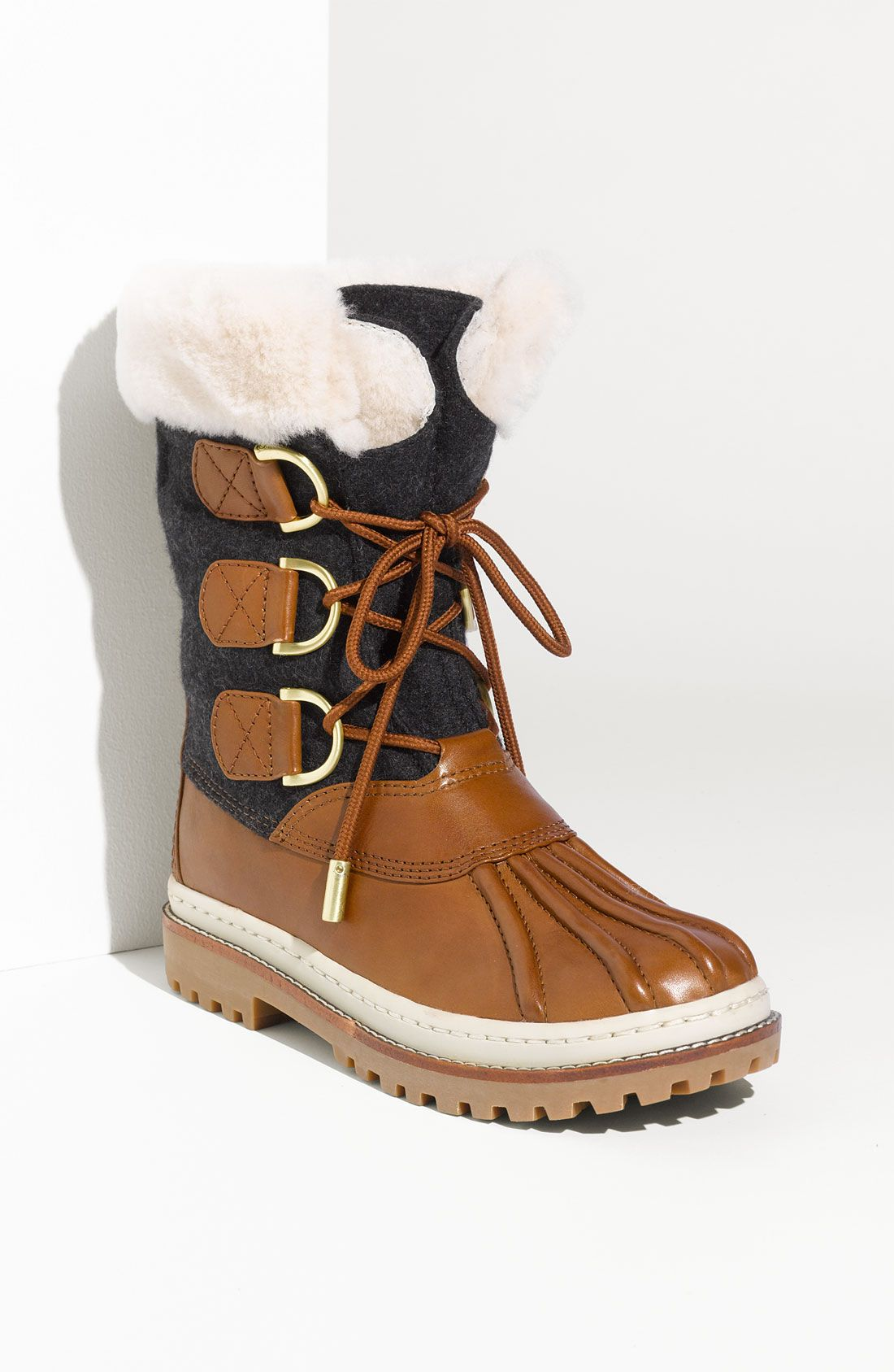 bfd8196dcced Tory Burch Flannel   Leather Duck Boot