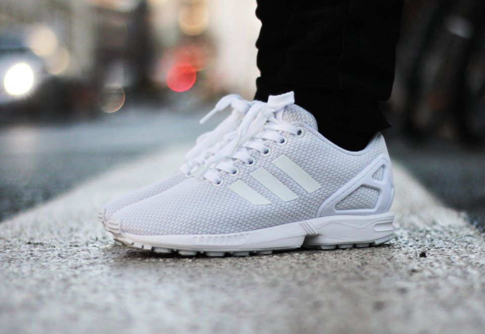 big sale 6a609 01845 Adidas ZX Flux 'Triple White' | kicks | Adidas zx flux ...