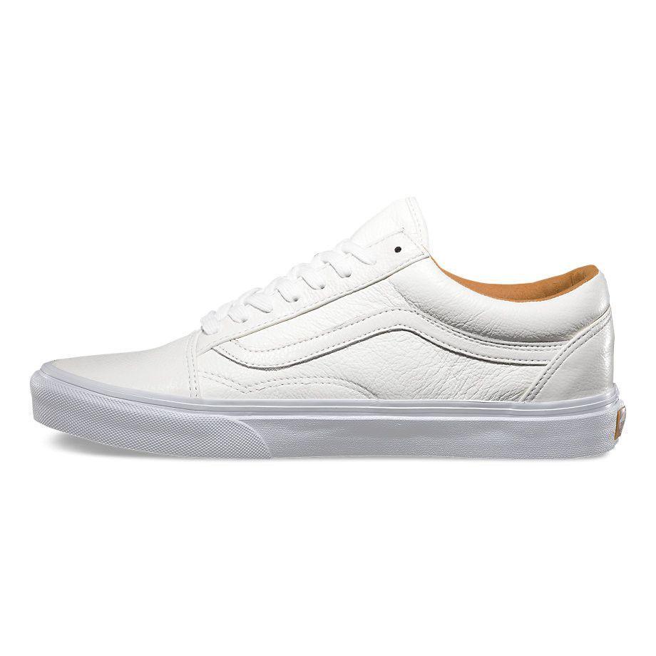 Vans Old Skool premium leather all white