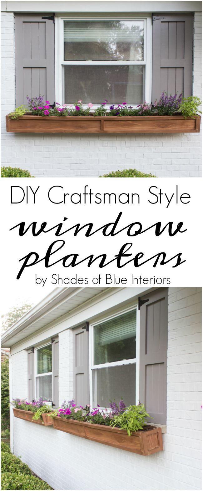 Diy Cedar Window Planters Shades Of Blue Interiors Window Planters Window Boxes Diy Window Shutters Diy