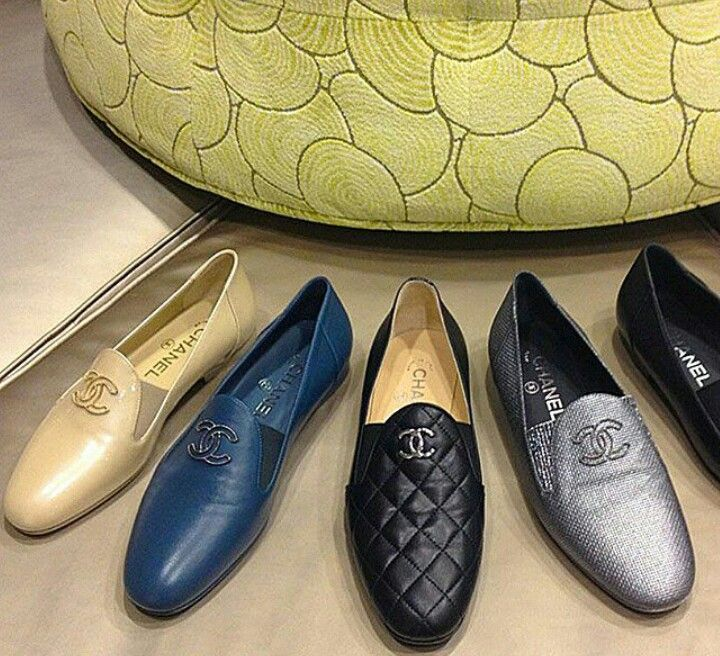 Blue And Silver For Me Please Chanel Men Slippers Dress Shoes
