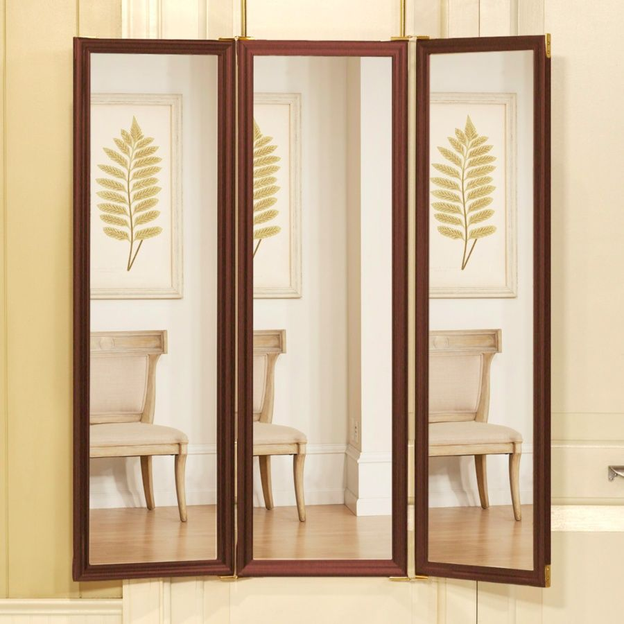 Tri Fold Mirror You Can Hang Over The Door. When It Closes There Is
