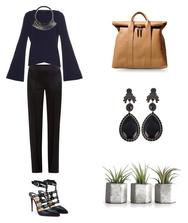"""Grace"" by zoechengrace ❤ liked on Polyvore featuring The Row, 3.1 Phillip Lim, Iosselliani, Christian Louboutin and Givenchy"