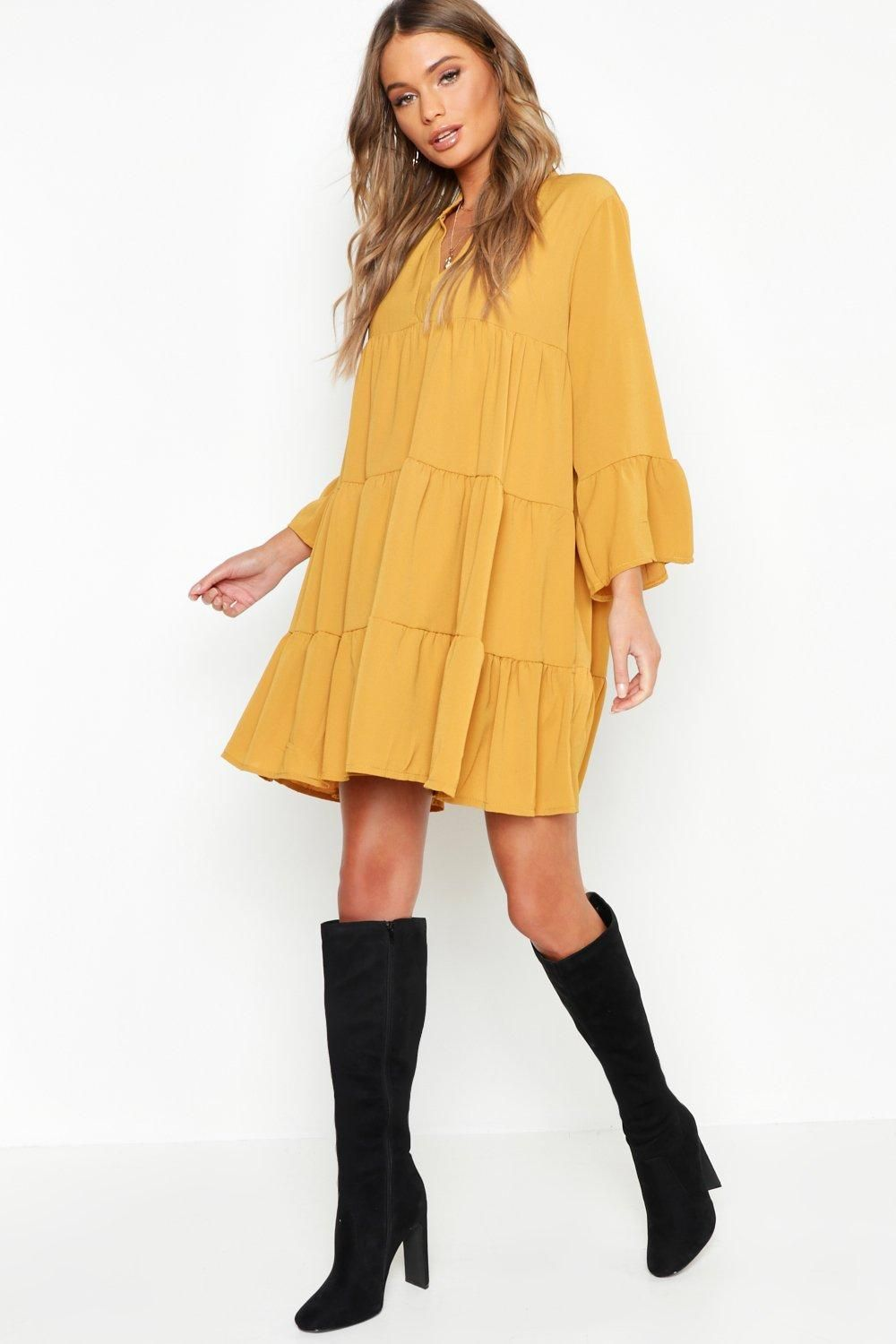 12+ Boohoo exclusive lace insert smock dress inspirations