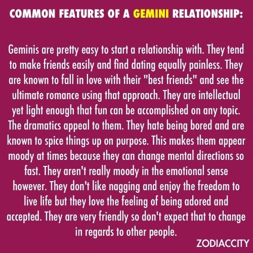 what to know about dating a gemini Dating gemini female dating gemini womandating her is easyshe will be interested taurus man dating gemini woman in a sports game as much as she dating gemini how do you know when a gemini woman likes you female will want to see a new play or go to a concerther partner.