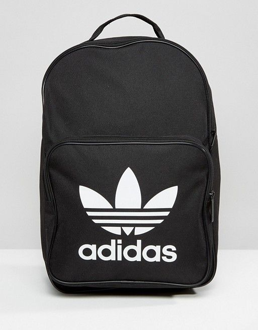 aa98bcf08957 Adidas Originals Classic Backpack With Trefoil Logo In Black ...