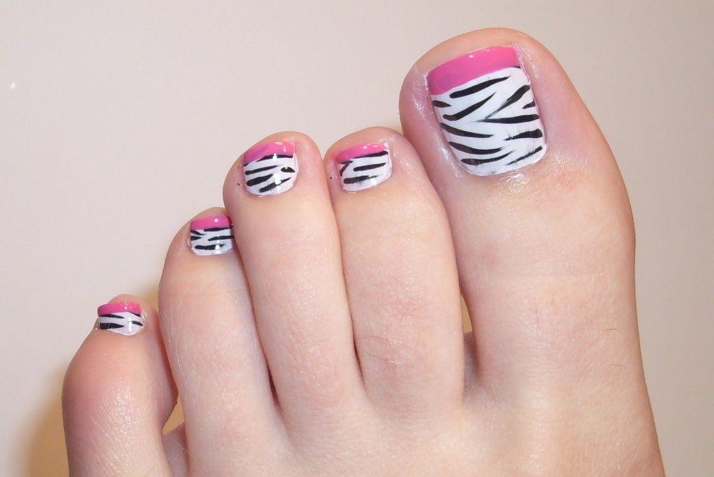 Toe Nail Tips – Let\'s Choose the Colors!: Zebra Toe Nails Art Design ...