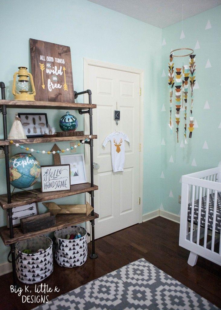 Modern Baby Boy Room Ideas: Rustic Modern Boy Nursery - Big K, Little K Designs