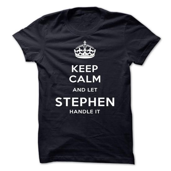 Keep Calm And Let STEPHEN Handle It - #baseball shirt #sweater dress outfit. SECURE CHECKOUT => https://www.sunfrog.com/LifeStyle/Keep-Calm-And-Let-STEPHEN-Handle-It-hygmi.html?68278