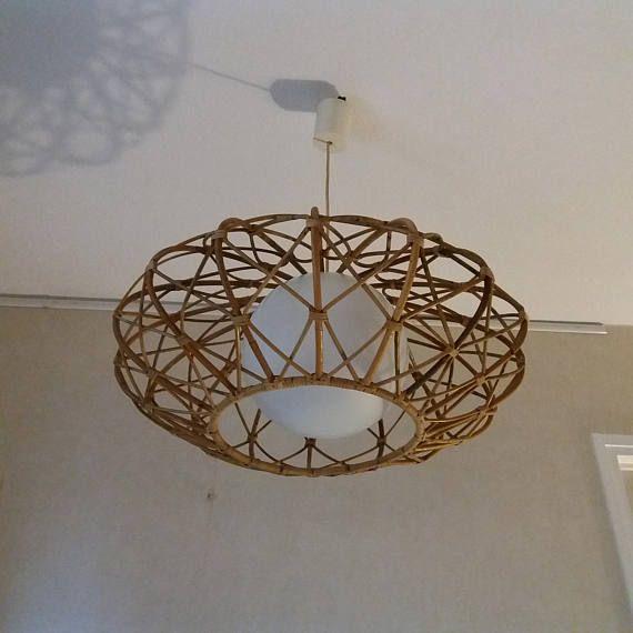 Vintage rattan chandelier rattan nice rooms and opaline vintage rattan chandelier aloadofball Image collections