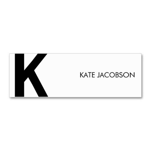 Contemporary Chic Skinny Calling Card Business Card Templates