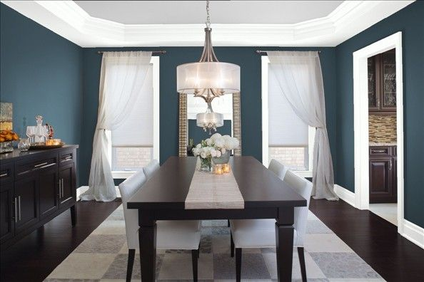 Vermont Slate Sample Dining Room Blue Blue Dining Room