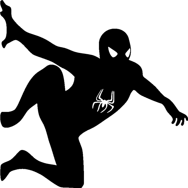 silhouette spiderman dessins pinterest pochoir chambre