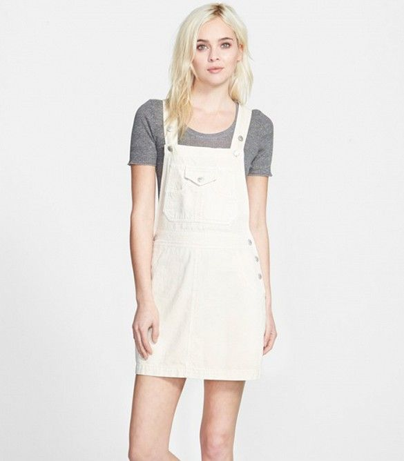 11++ White overall dress information
