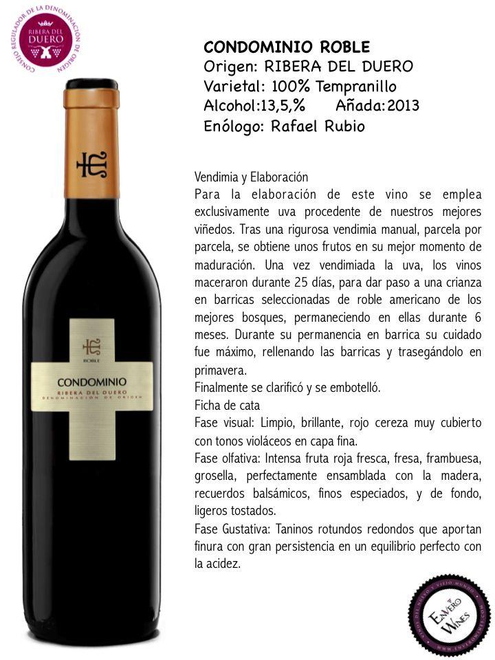 CONDOMINIO ROBLE, ENVERO WINES, VINOS DE RIBERA DEL DUERO
