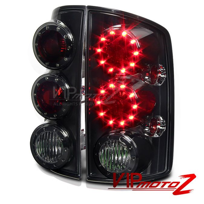 Dodge Ram 02 05 Titanium Tinted Brake Signal Led Tail Light Lamps Left Right Set Led Tail Lights Dodge Ram Tail Light