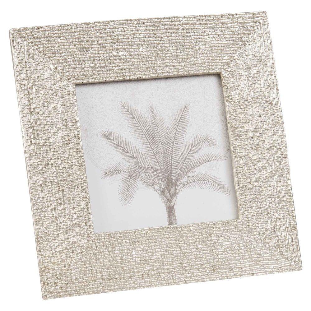 Silver Colour Photo Frame 10x 10 Cm Maisons Du Monde Quadros