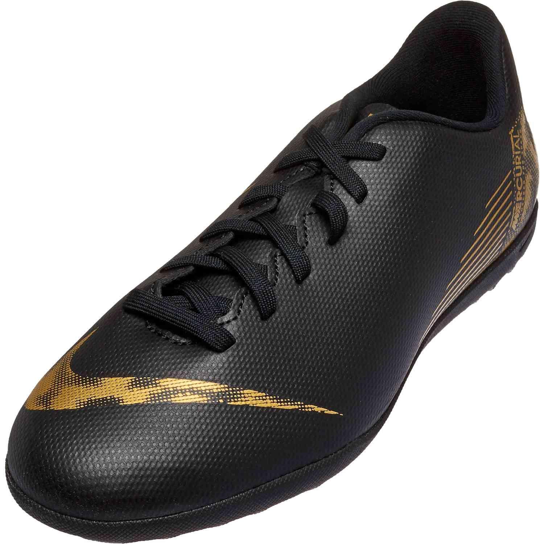 Kids Nike Mercurial Vapor 12 Club Tf Black Lux Soccerpro Nike Gold Soccer Shoes Turf Shoes