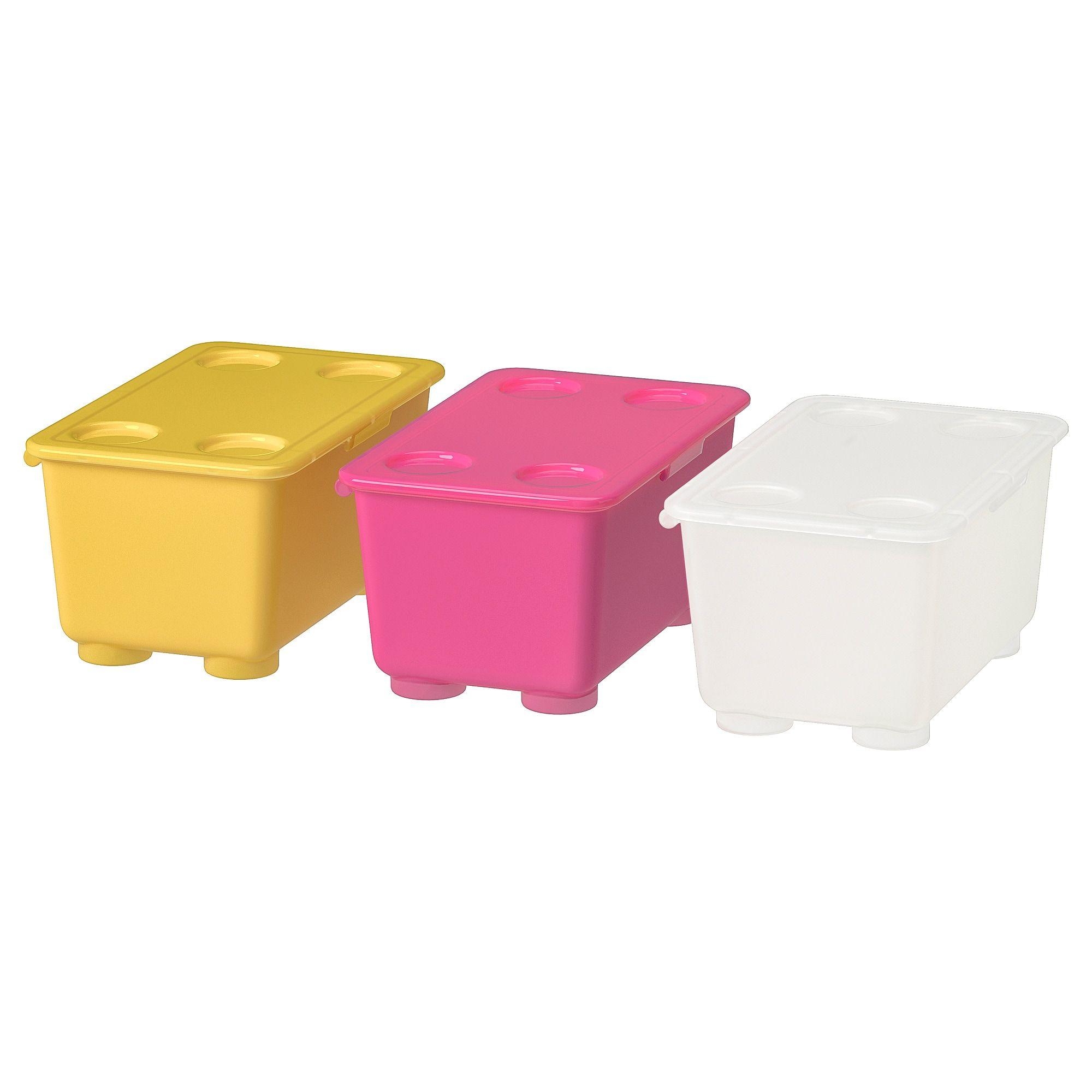 Glis Caja Con Tapa Rosa Blanco Amarillo 17x10 Cm Cajas Con