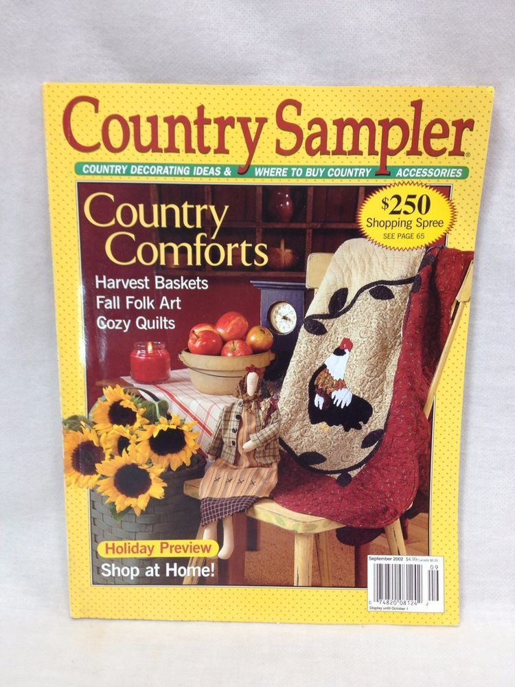 Country sampler magazine country decorating with crafts