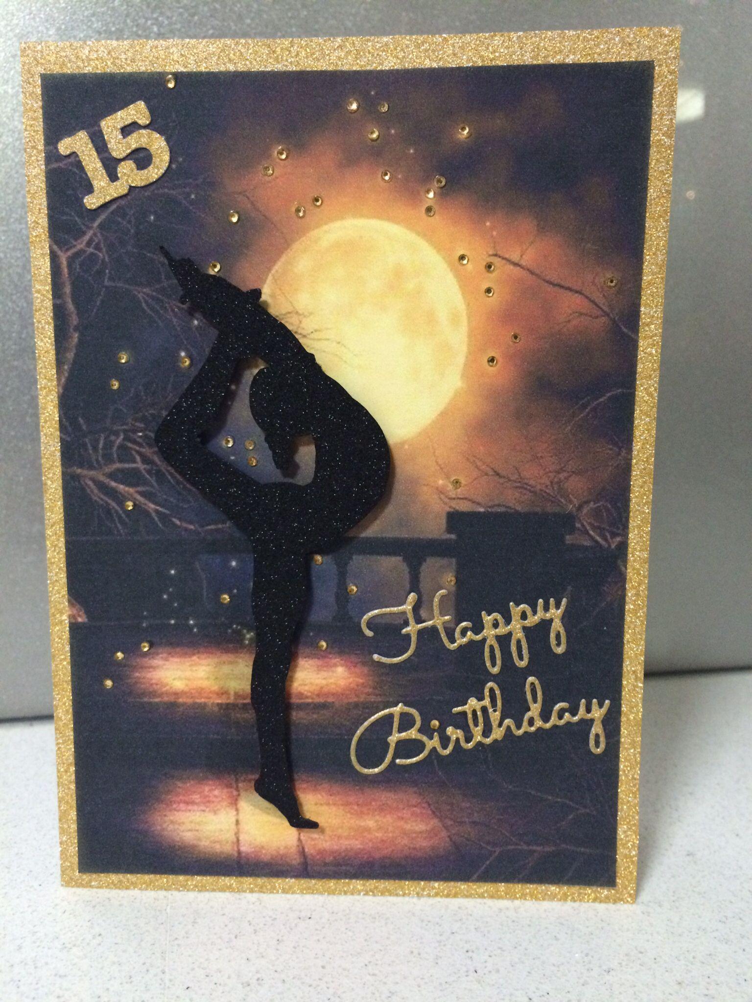 Gymnastics birthday card   Kids birthday cards, Cards handmade ...