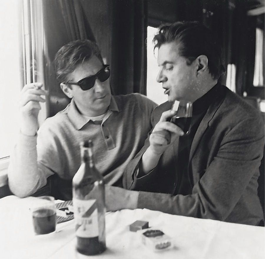 JOHN DEAKIN (1912-1972)  Francis Bacon and George Dyer on the Orient Express to Athens, 1965