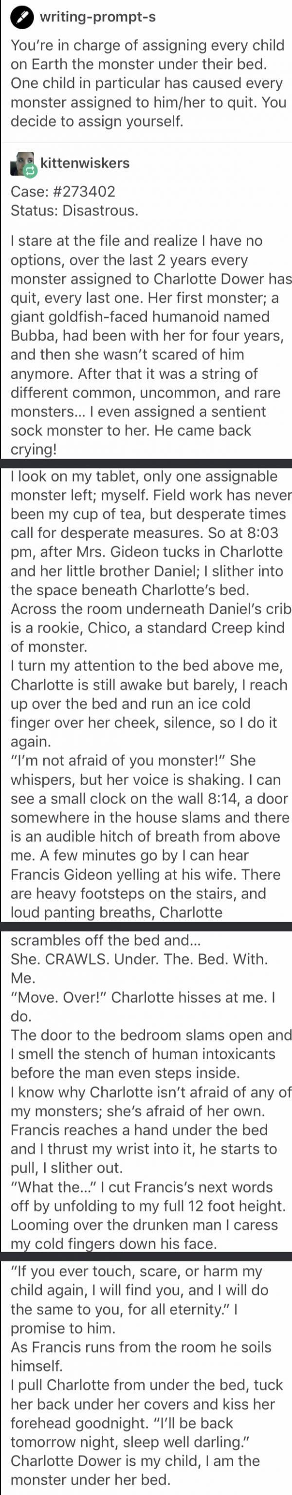 Monster essay prompts