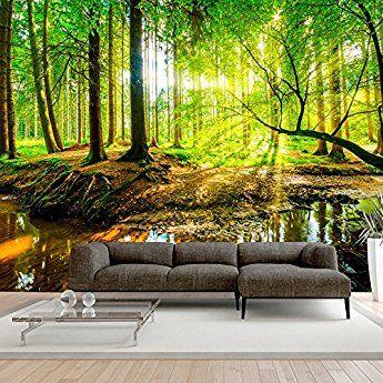 Murando fototapete wald  cm vlies tapete moderne wanddeko design wandtapete wand dekoration natur baum grun    also rh pinterest