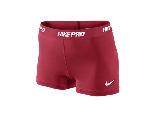 Nike Pro Core II Compression Women's Shorts. Maroon go eagles