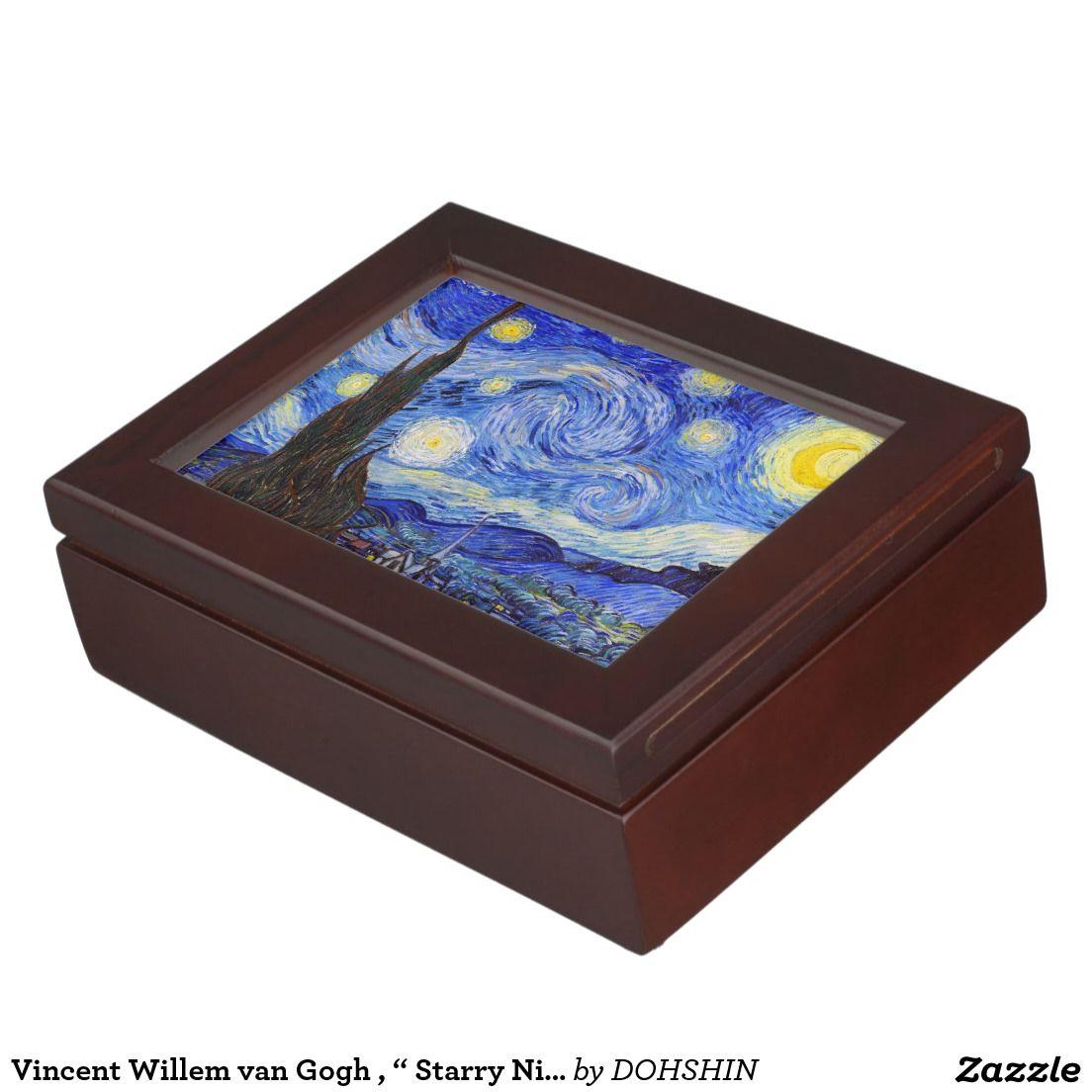 "Vincent Willem van Gogh , "" Starry Night "" アクセサリーケース"