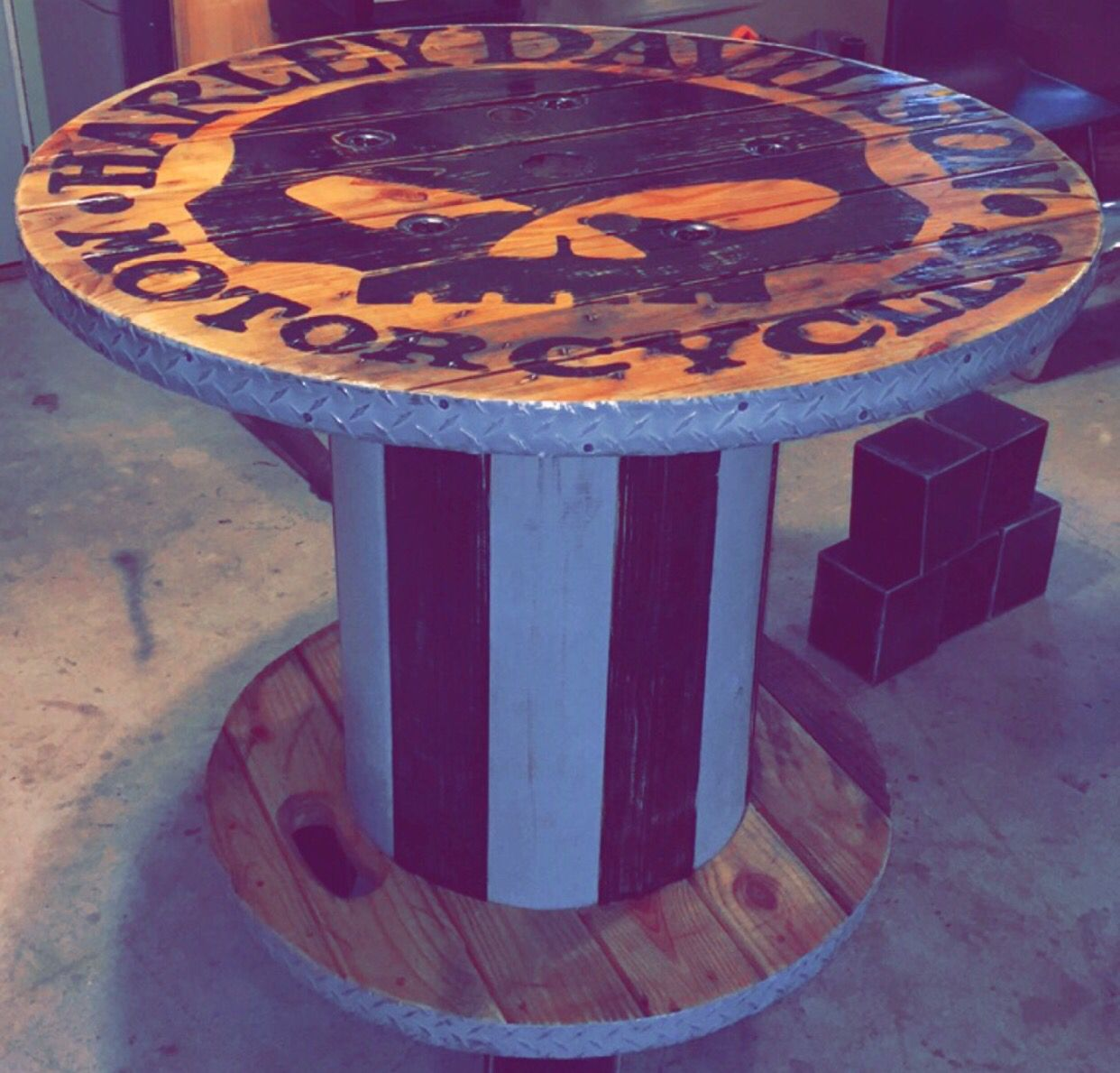 Wooden Spool Harley Davidson Table   My Creations/Cool Spool Crafts ...