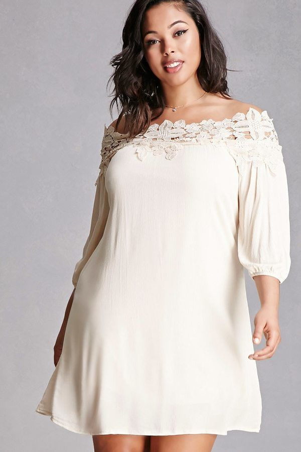 53cda026ca18 FOREVER 21+ Plus Size Crochet Mini Dress | Pearls and Lace | Dresses ...