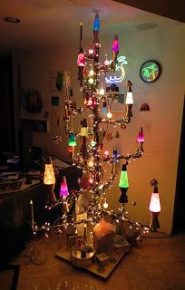 Lava Lamp String Lights : Christmas Plumbing Tree with LAVA LAMPS!, galvanized plumbing parts, lava lamps, bubble lights ...