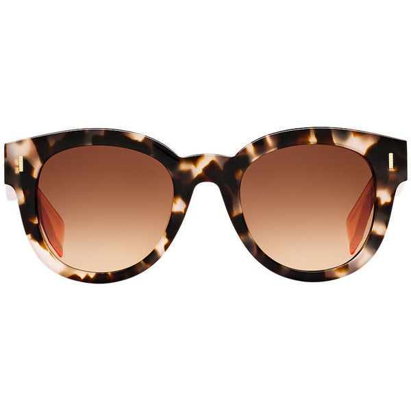 Colorful Sunglass Hut: Fendi Fd0026 50 Multicolor Round Sunglasses ($355) Liked